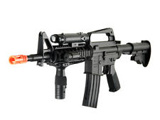 Well M16A4 Airsoft Spring Rifle Replica M16 M4 Style Toy Gun w/ Laser LED Light