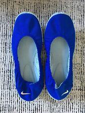 NIKE Womens Studio Wrap Ballet Pilates Yoga Flats Slip On Shoes Blue Size 8