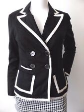 PORTMANS NEW  Double Breasted Black and White Jacket Size 6 - 8   US 2 - 4