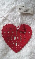 JOHN LEWIS - BNWT - Red Metal Heart Hanging Decoration - I Love You - Wedding