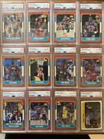 1986 Fleer Basketball Near Complete Set 131/132 - Missing Both Jordan RC