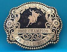 VTG 2002 GIST OLBRA STATE FINAL CHAMPION JR BULL RIDER Cowboy Trophy Belt Buckle