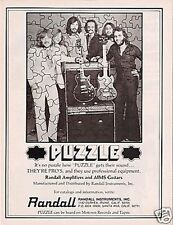1975 PUZZLE uses RANDALL Amps & AIMS Guitars Vintage Ad