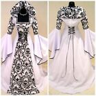 Hot Medieval Victorian Renaissance Gothic Wedding Dress Vampire Cosplay Costume