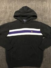 Polo Ralph Lauren Boys Pullover Hooded Sweater Black , Size L