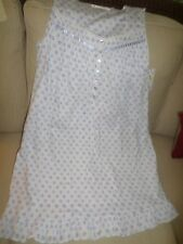 Eileen West Lilac Purple & White Cotton Short Sleeveless Gown S NWT