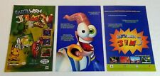 two EARTHWORM JIM video game ads ~ one single page, another two page