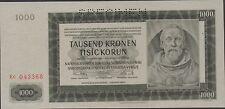 BOhemia & Moravia  1000 Korun  24.1.1942  P 15s Specimen  Uncirculated Banknote
