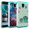 Diamond Bling Hybrid Armor Case For Samsung Galaxy J3 2018 / J3 Star /J3 Achieve