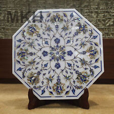 White Marble Tile Mosaic Floral Abalone Shell Inlay Table Marquetry Home Decor