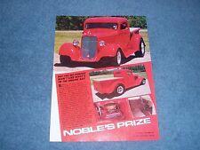 "1935 Dodge Pickup Vintage Street Rod Article ""Noble's Prize"""