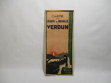 ANCIENNE CARTE DES CHAMPS DE BATAILLE VERDUN KARTE DER SCHLACHTFELDER VON VERDUN