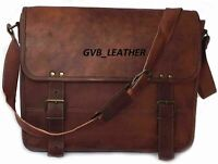Mens Satchel Laptop suitcase  Briefcase Vintage Bag  Genuine Leather Messenger