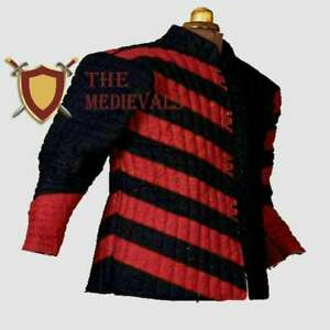 Best Item Medieval Gambeson Red&black Color Reenactment SCA LARP