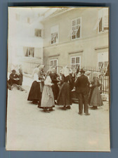 Autriche, Österreich, Graz, Groupe de Slovènes  Vintage citrate print. Vintage A