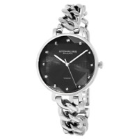 Stuhrling Original 3937 2 Quartz Crystal Accented Chain Bracelet Womens Watch
