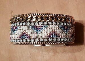 OOAKJewelz Aztec Beaded Chain Trim Bohemian Bracelet Dutch