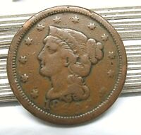 1848 Braided Hair Large Cent - Old Copper Penny