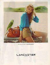 Publicité Advertising 2010  LANCASTER  sac à main collection mode