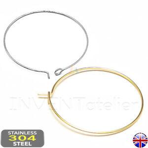 Stainless Steel Hoop Earring Connector Loop Ear Base Findings Wine Glass _733