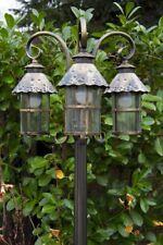 Kandelaber Außenstehleuchte Wegelampe Stehlampe Außenlampe gold braun 3 Köpfen