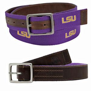 LSU Alumni Purple Gold & Leather Reversible Belt by Jack Mason 34
