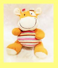Hallmark Hippo Baby Doll Multi-colors Strips Stuffed Animal Plush Toy + GIFT
