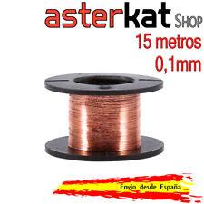 Carrete de cobre esmaltado de 0,1mm Bobina Alambre 15m hilo soldaduras puentes