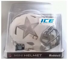 "Dallas Cowboys NFL American Football Riddell White Ice 6"" Mini Speed Helmet"
