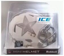 "Dallas Cowboys NFL American Football Riddell White Ice 6"" Mini Speed Helmet"