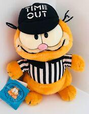 "Vintage 1978 GARFIELD Referee Plush Doll by Dakin - 9"" talll NWT"