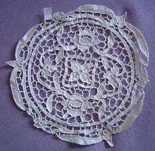 Ancien napperon dentelle de venise 21cm Old venetian lace napkin handmade