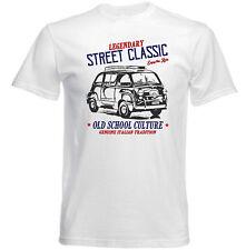 VINTAGE AMERICAN CAR FIAT 600 MULTIPLA 2-Nuova T-shirt di cotone
