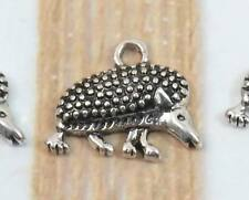 15pcs Silver tone Hedgehog Charms Pendants 12x15x8mm