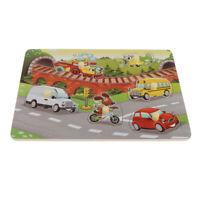 Kids Wooden Peg Puzzles Play Set Learning Jigsaw Preschool Gift Educational