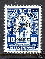 Honduras Sc C75v MLH. 1932 Inverted Surcharge