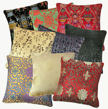 (Eb) Chinese Damask Oriental Chinese Rayon Brocade Cushion Cover/Pillow Case
