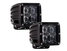 RIGID INDUSTRIES BLACK DUALLY D2 HYPERSPOT (504713) White LED Spot Lights (PAIR)