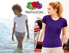STOCK pezzi 30 FRUIT OF THE LOOM maglietta DONNA maglia girocollo T-SHIRT woman#