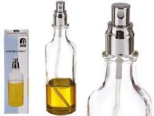 Aceitera vinagrera con spray pulverizador transparente casa cocina nuevo