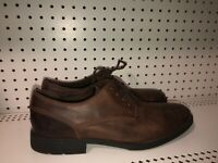 Clarks Mens Leather Lace Up Casual Shoes Oxfords Size 12 M Brown