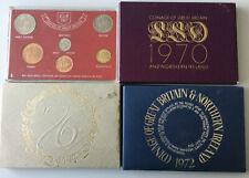 Künker: Grossbritannien, KMS Kursmünzensatz 1967, 1970, 1972, 1976, 3 x PP