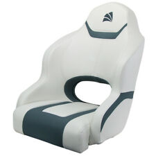 Boat Seat Relaxn Reef Series Sports Bucket Seat White/Gun Metal Grey Cross Hatch