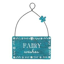 Fairy Wishes Cute Mini Wooden Sign Ideal As Birthday Gift Tag For Little Girl