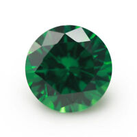 10mm AAAAA Natural Mined Green Emerald Round Faceted Cut 5.17ct VVS Loose Gems