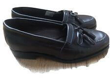 CROFT & BARROW Tassel Loafers Leather SHOES  Brown  Mens 8 D