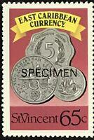 St. Vincent #1080 MNH Specimen CV$1.00 East Caribbean Currency Coins Perf 15