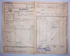 Frachtbrief 1923 Chemnitz Hbf. Selon Schönbrunn Par Bischofswerda (D5