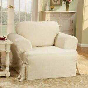 Sure fit Heavyweight Cotton Duck One Piece Chair Slipcover