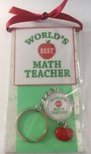 World's Best Math Teacher Keyring Teacher Gift